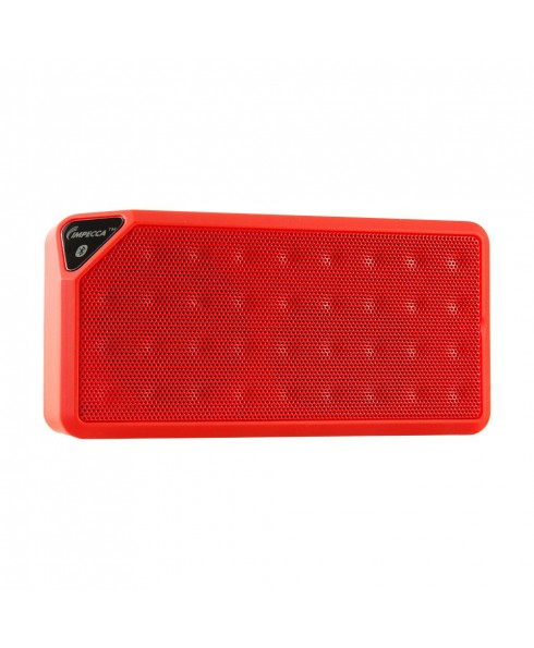 Portable Bluetooth Speaker with Aux Input - Red