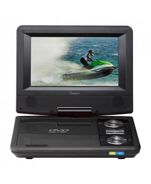 7 Inch Swivel Portable DVD Player, Black