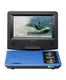7 Inch Swivel Portable DVD Player, Blue