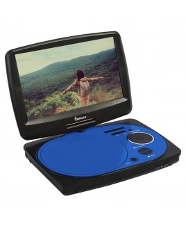 9 Inch Swivel Portable DVD Player, Blue