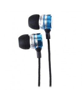 Metal Stereo Earbuds - Blue