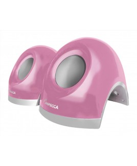 2.0 Channel USB Powered Stereo Multimedia Speakers - Pink