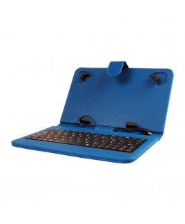 Mini Keyboard Case & Stand For 7 Inch Tablets - Blue