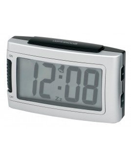 Battery Alarm Clock with Snooze - Silver