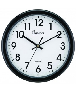 12 Inch Quiet Movement Wall Clock - Black