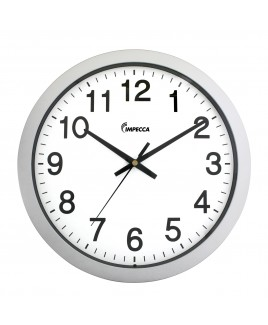 14 Inch Sweep Movement Wall Clock, Silver Frame