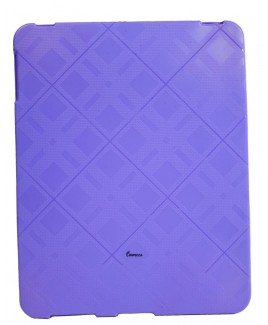 IPS122 Plaid Flexible TPU Protective Skin for iPad™ - Purple