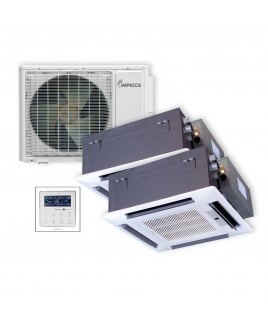 Flex Series Two Ceiling Cassette Indoor Ductless Split Units, and 29,000 BTU Outdoor Unit with Inverter Technology