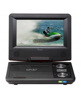 7 Inch Swivel Portable DVD Player, Black