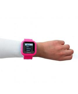 "8GB MP3 Slapwatch with 1.5"" TFT Display - Pink"
