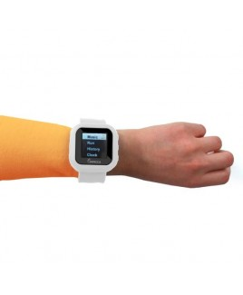 "8GB MP3 Slapwatch with 1.5"" TFT Display - White"