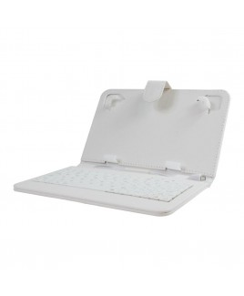 Mini Keyboard Case & Stand For 7 Inch Tablets - White