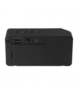 Portable Bluetooth Speaker with Aux Input - Black