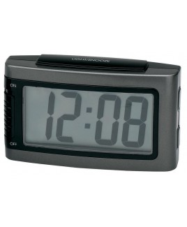 Battery Alarm Clock with Snooze - Grey