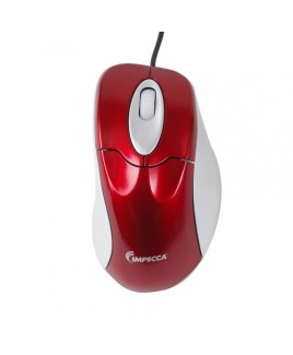 WM100R Illuminated USB Optical Wheel Mouse Red with Gray Trim