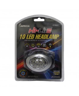 Hi-Lite 10-LED Headlamp, Black/Silver