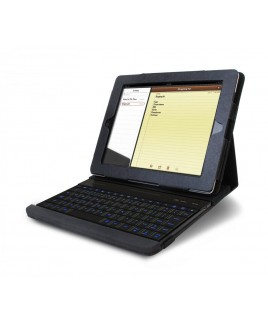Detachable Illuminated Wireless Keyboard & Protective Case/Stand for iPad 1, 2, 3, 4th generations (30 pin)