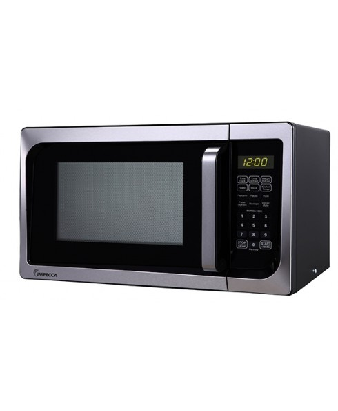 Impecca 0.9 Cu. Ft. 900W Countertop Microwave Oven, Stainless Steel
