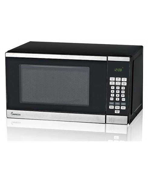 Impecca 0.7 Cu. Ft. 700 Watt Countertop Microwave Oven, Stainless Steel