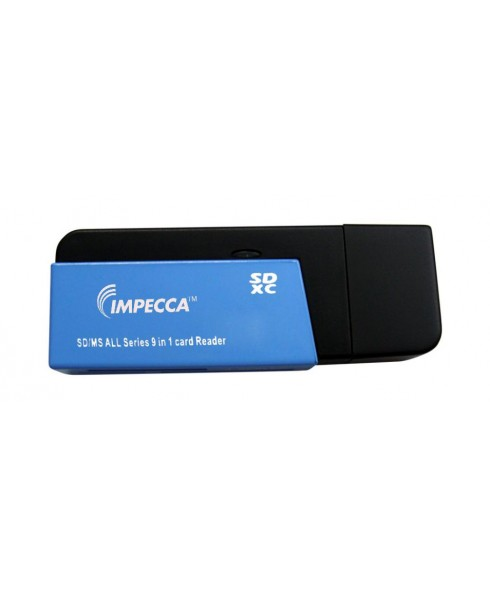 Mini 9-in-1 SD™/MicroSD™/SDXC™ Card Reader - Blue