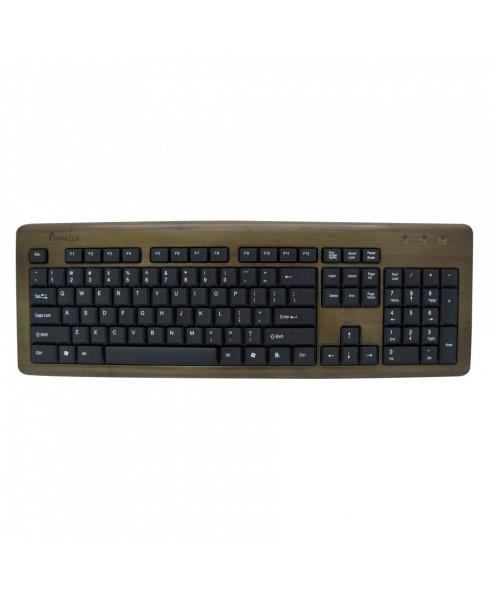 Bamboo Designer Keyboard Walnut Color
