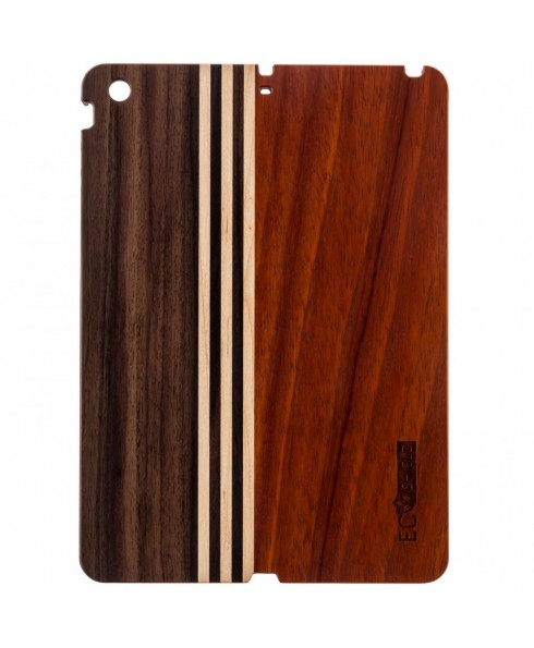Eco Shield Natural Wood Case for iPad Air, Forest Symphony (made of Rosewood, Maple, & Ebony Wood)