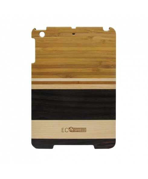 Eco Shield Natural Wood Case for iPad Mini, Forest Roots (made of Walnut+Maple+Ebony Wood)