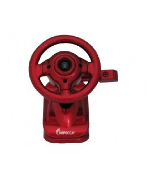 WC100 Steering Wheel Webcam with Built-in Mic Red