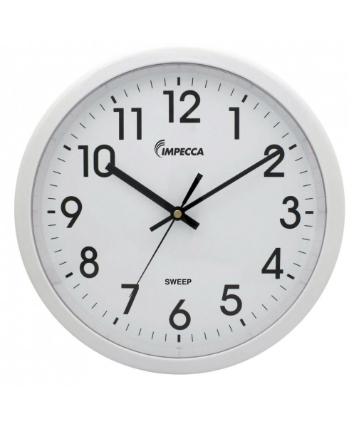 12 Inch Quiet Movement Wall Clock - White