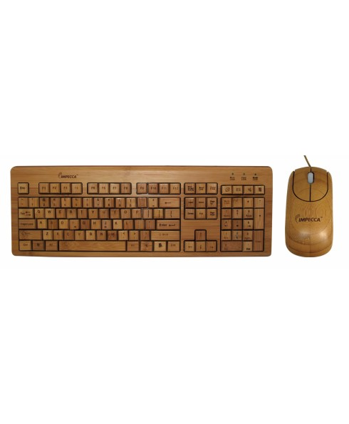 IMPECCA FULL BAMBOO KEYBOARD & MOUSE