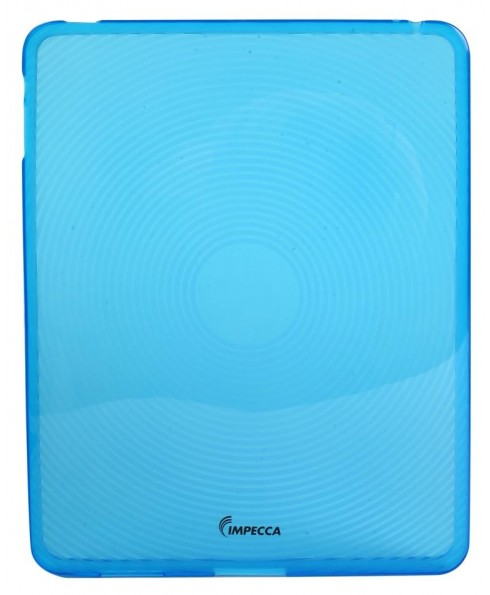 IPS123 Fingerprint Flexible TPU Protective Skin for iPad™ - Blue