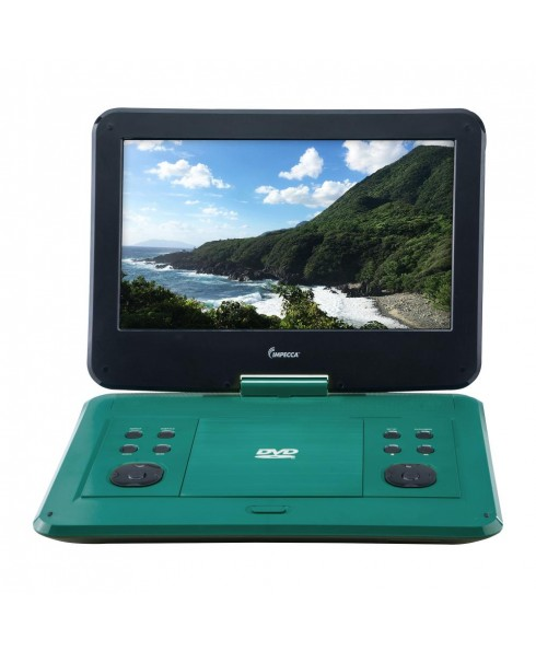 Portable DVD Player with 13.3-inch 180-degree Widescreen LCD, Tropical Teal