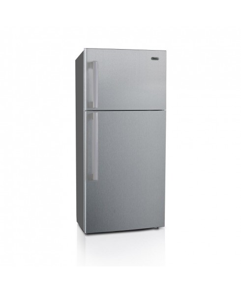 18 Cu. Ft. Apartment Refrigerator with Top Mount Freezer, Stainless Steel