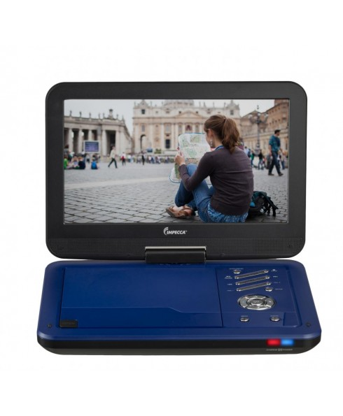 Portable DVD Player with 10.1 inch Swivel Screen - Burnished Cobalt (Blue)