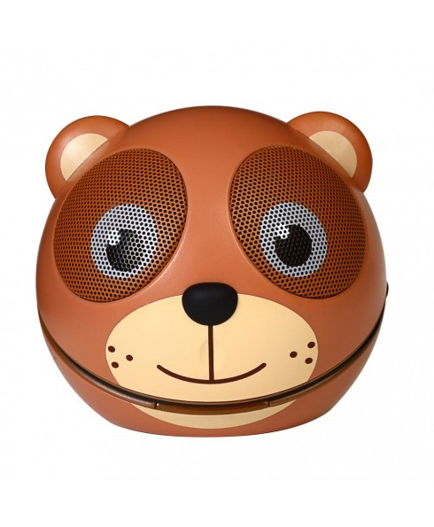 Zoo-Tunes Compact Portable Bluetooth Stereo Speaker, Cocoa the Bear