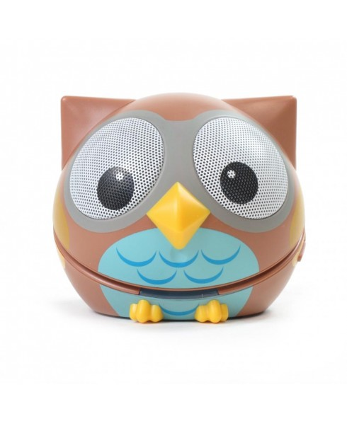 Zoo-Tunes Compact Portable Bluetooth Stereo Speaker, Ogle the Owl