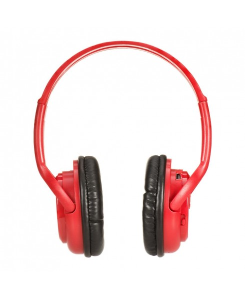 Bluetooth Stereo Headset + Music Player - Red