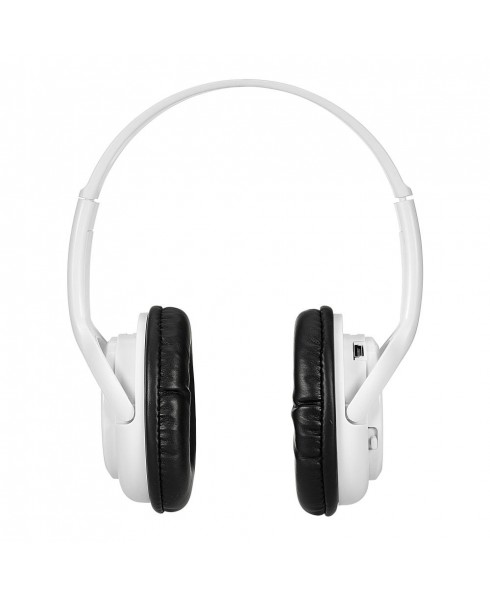 Bluetooth Stereo Headset + Music Player - White