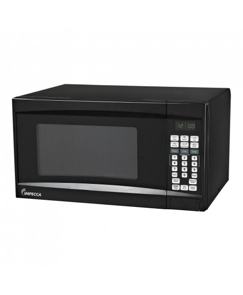 Impecca 0.7 Cu. Ft. 700 Watt Countertop Microwave Oven, Black