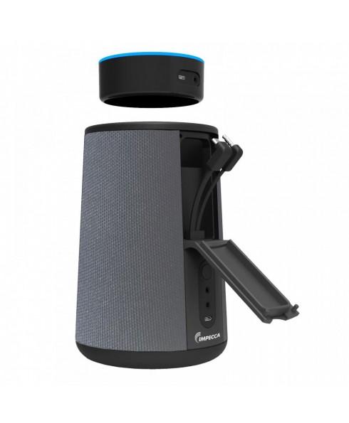 Cordless Speaker & Charging Dock for Echo Dot 2nd Gen. Grey