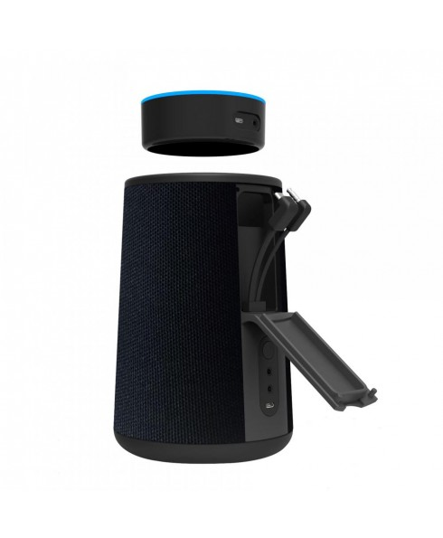 Cordless Speaker & Charging Dock for Echo Dot 2nd Gen. Black