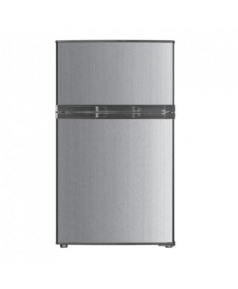 RC-2311 3.1 Cu. Ft. Compact Double Door Refrigerator, Stainless Look