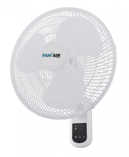 """FanFair 16""""   Wall Fan  With Remote Control"""