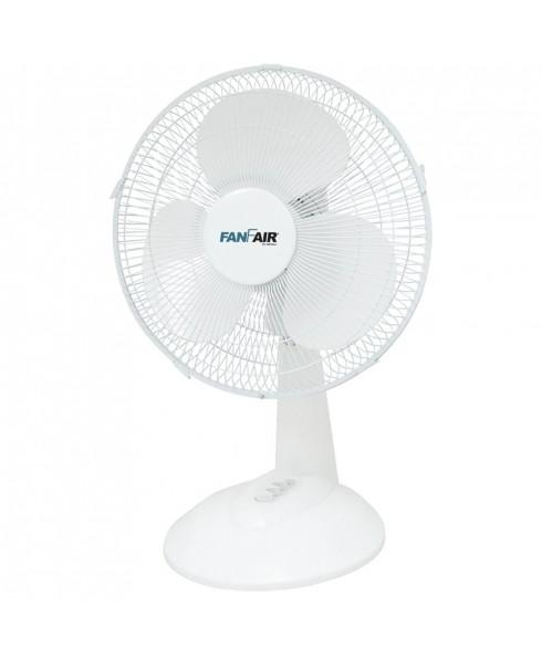 FanFair 16-inch Desk Fan w/ Oscillation, WHITE
