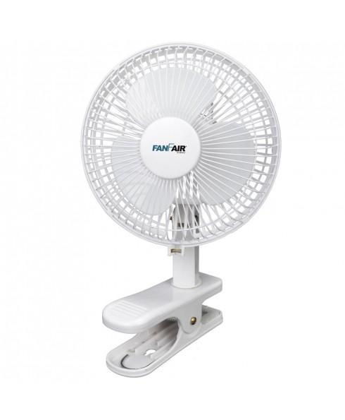 FanFair 6-inch Clip Fan 2 Speeds, WHITE
