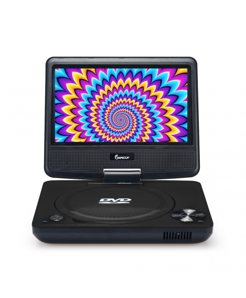 DVP-772 7in 270° Swivel Screen Portable DVD Player, Black