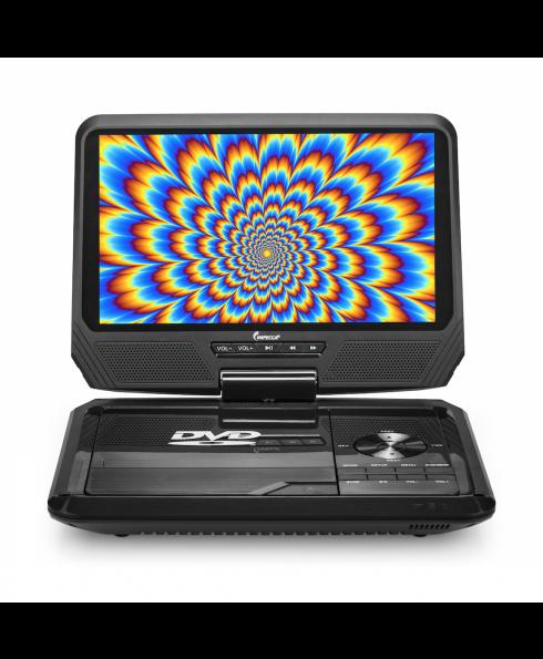 DVP-917 9in 270° Swivel Screen Portable DVD Player, Black