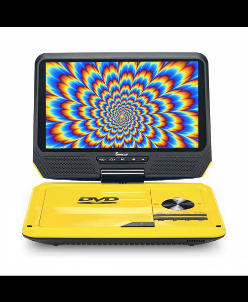 DVP-917 9in 270° Swivel Screen Portable DVD Player, Yellow