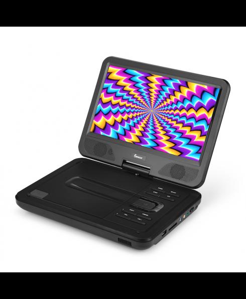 DVP-1017 10.1in 270° Swivel Screen Portable DVD Player, Black