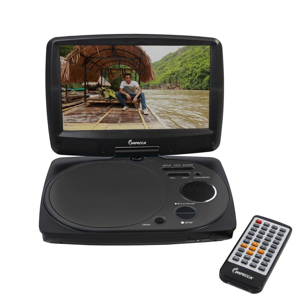 9 inch swivel portable dvd player black. Black Bedroom Furniture Sets. Home Design Ideas